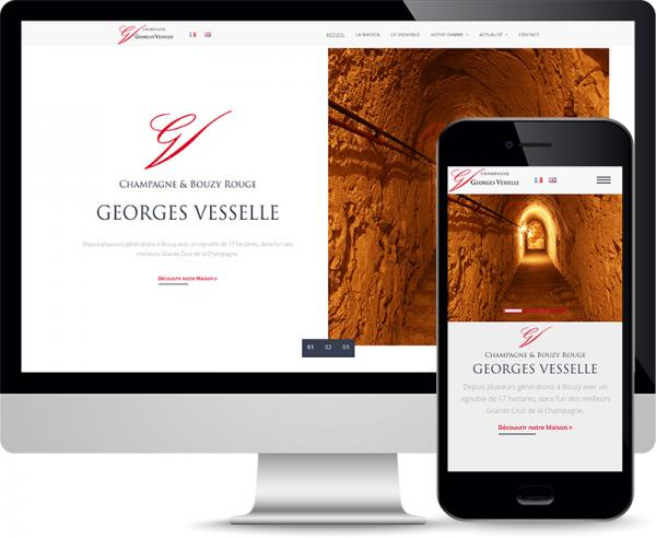 Champagne Georges Vesselle Réalisation site web by Cyber Création