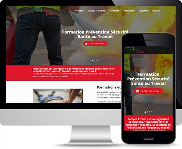 Forspie Protect Réalisation web responsive by Cyber Création