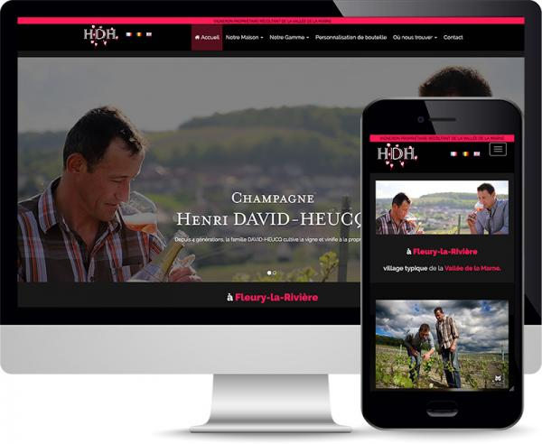 Champagne David-Heucq Site internet responsive by Cyber Création