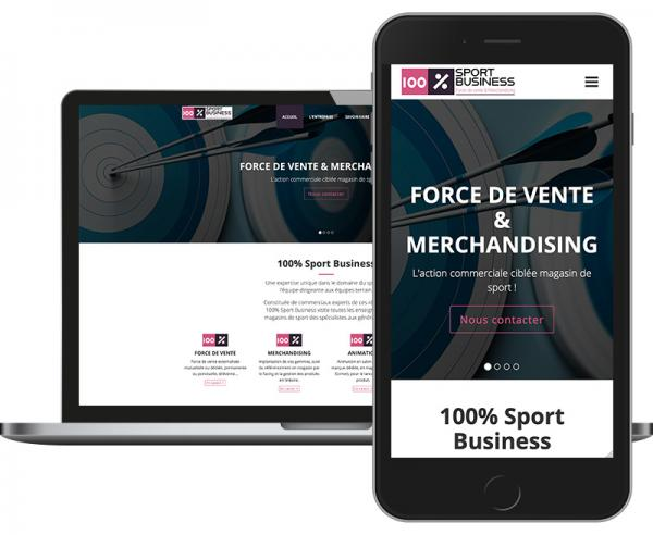 100% Sport Business Création site web Responsive Design by Cyber Création